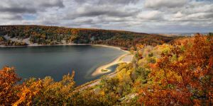 heavenly view of Devil's Lake by ariseandrejoice
