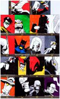 Batman: The Legend - Sketch Cards by LeeFerguson