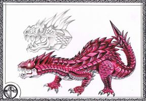 Red Dragon Hatchling by unrested