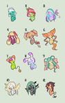 Adoptable Auction Batch 03 (CLOSED) by PixyPersephone