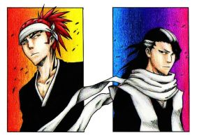 Renji and Byakuya by fatgurl06