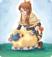 Request- Mareep Trainer by shiwizilla
