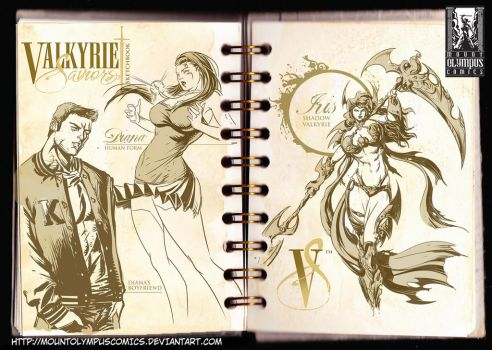 Characters from Valkyrie Saviors by Mountolympuscomics