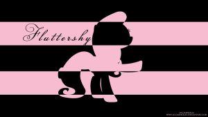Fluttershy Stripes Wallpaper by LuGiAdriel14