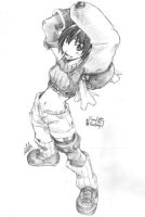 Yuffie Final Fantasy sketch by wildss