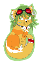 .:Gumi Vocaloid Cat Chibbi:. by Rose-Sherlock