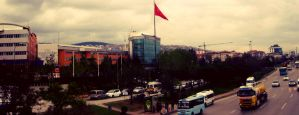 Road,Flag and Universty (Panaroma) by SottoPK