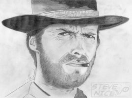 Clint Eastwood by Steve-Nice