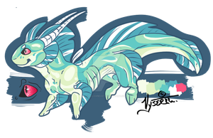 Water Dragon Adoptable - CLOSED by Vholkrum
