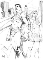 Superman and Supergirl by fernandomerlo