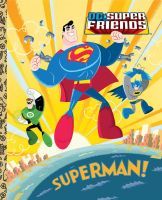 Superman! Little Golden Book Cover by cretineb