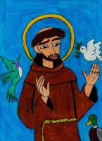 Saint Francis of Assisi by LadyData