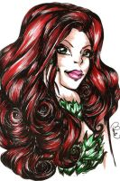 INK poison ivy by selene-nightmare69