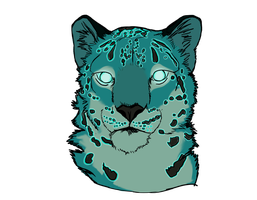 Blue Snow Leopard by airhead77