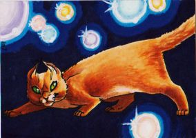 Neils the cat ATC by lizspit