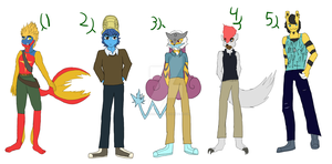 Anthro PokeBabs Adopts 5OPEN by Sahara-Fang