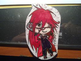 Zero - Grell keychain for my friend (2) by shinarei