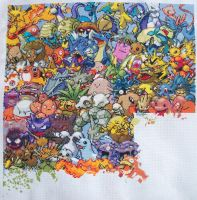Pokemon Gen. 1 Cross Stitch 12 by lizardlea