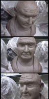 School Dump1- clay bust by PaigeC