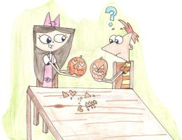 Carving Pumpkins. by Pinky1babe