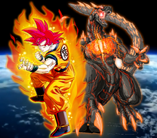 The two gods of Earth!! by sonichedgehog2
