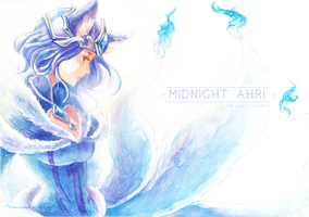 Midnight-ahri by MizoreAme