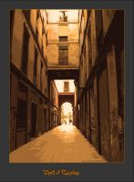 Streets of Barcelone No 2 by Taxony