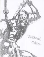 Deadpool MVC3 Concept Drawing by Hotfeet444