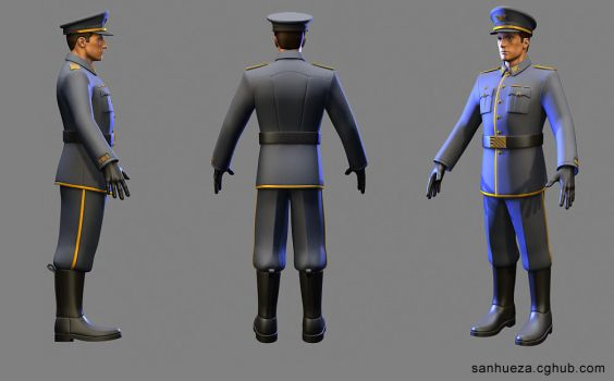3D character model: Starship Officer by TheArtOfSanhueza