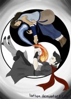 :Makorra Week Day 6: Balance by liutiya