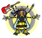 Robot Ninja Hornet by Splapp-me-do