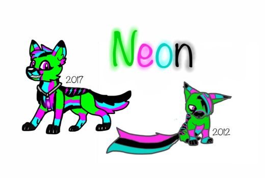 Neon: before and after by shadowclaw123456789