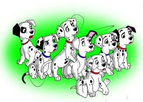 Some of the 101 dalmatians by hollano