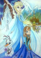 The North Mountain and The Kingdom Of Arendelle by Charming-Manatee