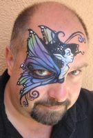 Fairy Face Painting by BruceCollinsArt