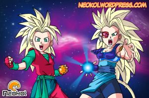 DBZ Characters - Commission by Neokoi