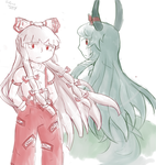 Mokou and Keine: Another Round by InfernoWizard