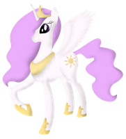 MLP:FiM - Princess Celestia - Colored by Jhyrachy