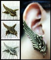 Wing Ear Cuffs by sodacrush
