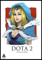 Crystal Maiden DOTA 2 Portrait #1 by faruuk-sama