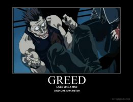 Greed Motivational Poster by Kaori18