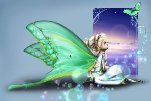 Child of a Luna Moth Eve by mree