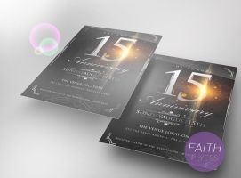 Anniversary Church PSD Flyer Template by ImperialFlyers