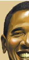 Obama half portrait by chngch