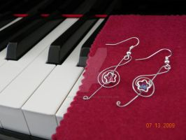 Treble Clef Swarovski earrings by beadsofcompassion