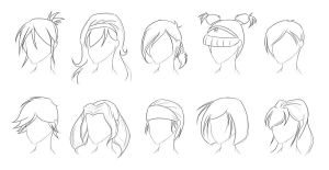 Female Hairstyle Practice by Obhan