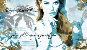 lanadelrey westcoast wallpaper by L-A-Addams-Art