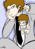 mr grey and baby teddy by crazykid000