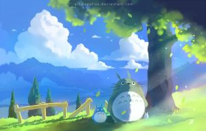 totoro summer by Apofiss