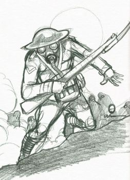 Sketch for World War Dead by grimhouse